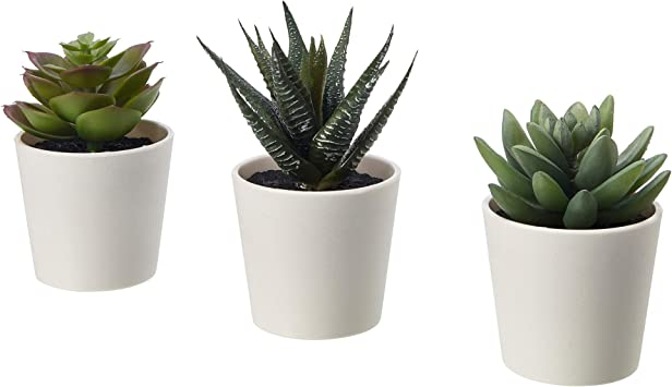 3 plantas//paquete Ikea fejka Artificial En Maceta Planta Con Maceta En//Exterior suculenta