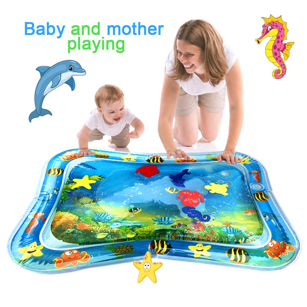 Swonuk Baby /& Infant Toys Tummy Time Water Play Mat Inflatable Sensory Newborn Play Activity Centers