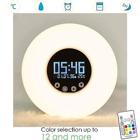 Edina Wecker despertador Luz despertador con luz, 51 tonos ...