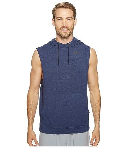 b50e445f316e Amazon.com   Nike Fleece Pullover Sleeveless Training Hoodie Binary Blue  Black Mens Clothing   Everything Else