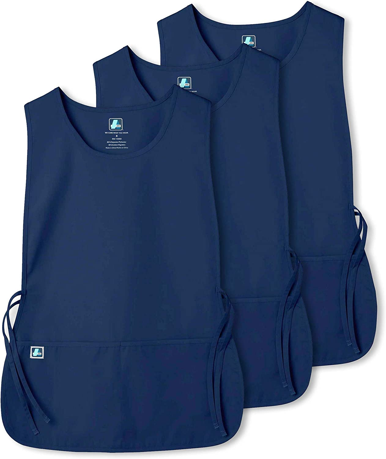 Available in 30 Colors X with 2 Pockets // Adjustable Ties HGR Adar Unisex Cobbler Apron 3 Pack 7023