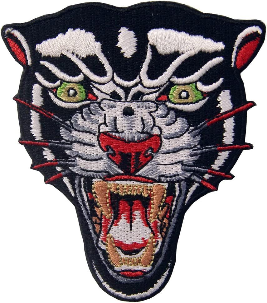 Cool Black PANTHER Face Embroidered Iron On Sew On Patches