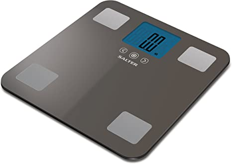 Salter Max 250kg Analyser Digital Bathroom Scales Measure Weight Bmi Bmr Body Fat Water Muscle Bone Mass 12 User Memory Easy Read Digital Display Instant Step On Feature 15 Year Guarantee