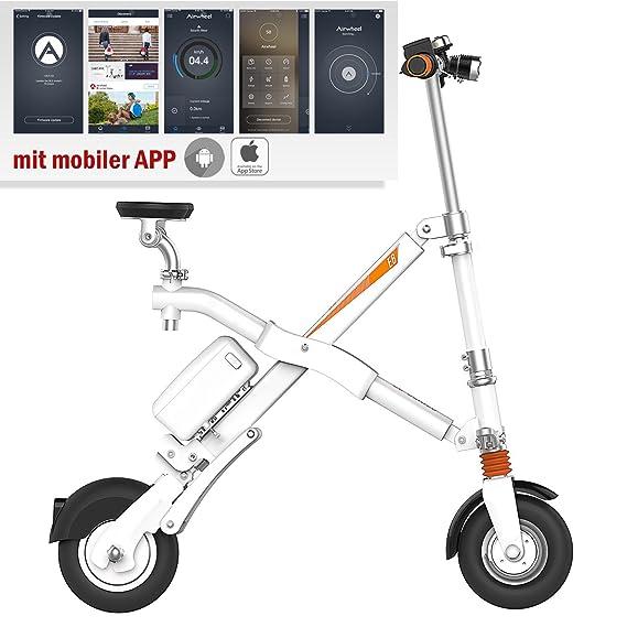 Airwheel E6 Bicicleta Eléctrica S de Bicicleta con Motor Mini E-Bike Bicicleta Plegable para Mujer Hombre Blanco: Amazon.es: Deportes y aire libre