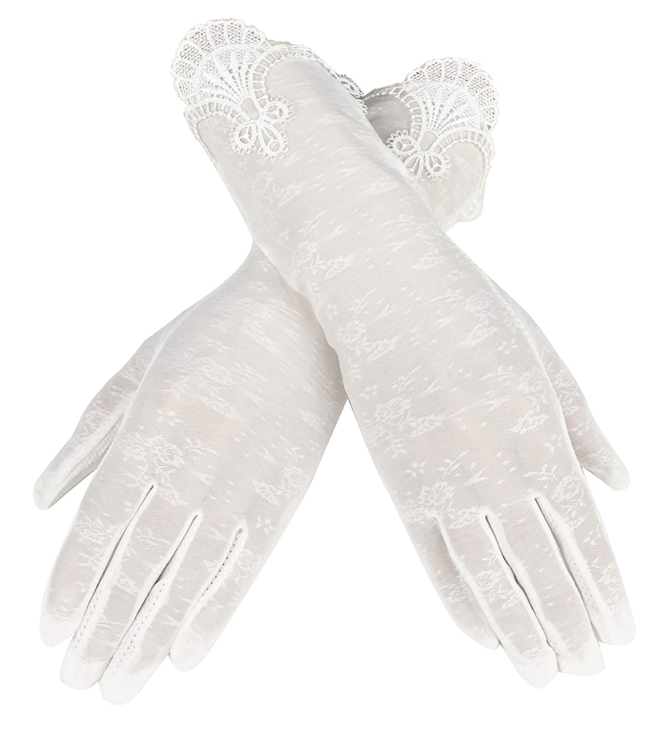 Vintage Style Gloves- Long, Wrist, Evening, Day, Leather, Lace Bienvenu Summer Women Lady Outdoor Uv Protection Gloves Mittens $10.99 AT vintagedancer.com