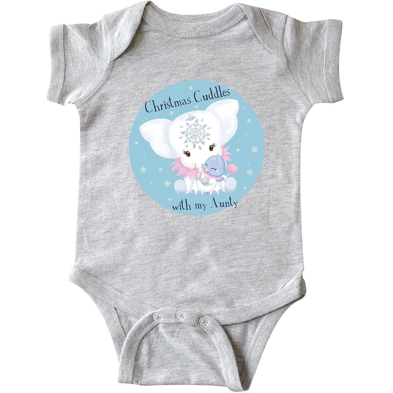 Amazon.com: inktastic Christmas Cuddles With Aunty White Infant ...