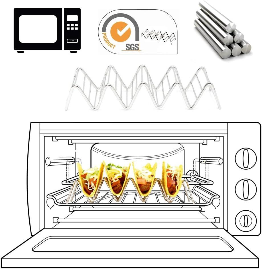 3 Pack taco soporte para servir platos, bandejas y bandejas ...