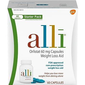 Alli Diet Weight Loss Supplement Pills Starter Pack 60 Count