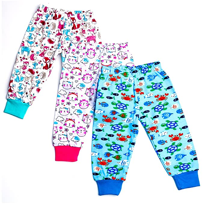 a98206c68 Baybee Premium Quality Baby Cotton Pajamas Leggings with Ribs for ...