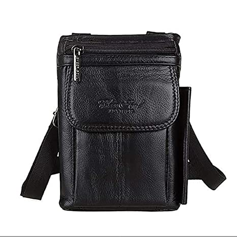 ea5e46071cd 2019 New Fashion Genuine Real Leather Men Shoulder Bag Travel Messenger  Small Bags Male Hip Belt