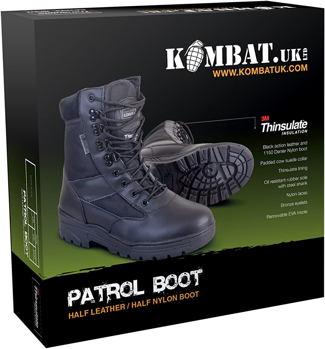 Kombat UK Men's Half Leather Half Nylon Patrol Boots