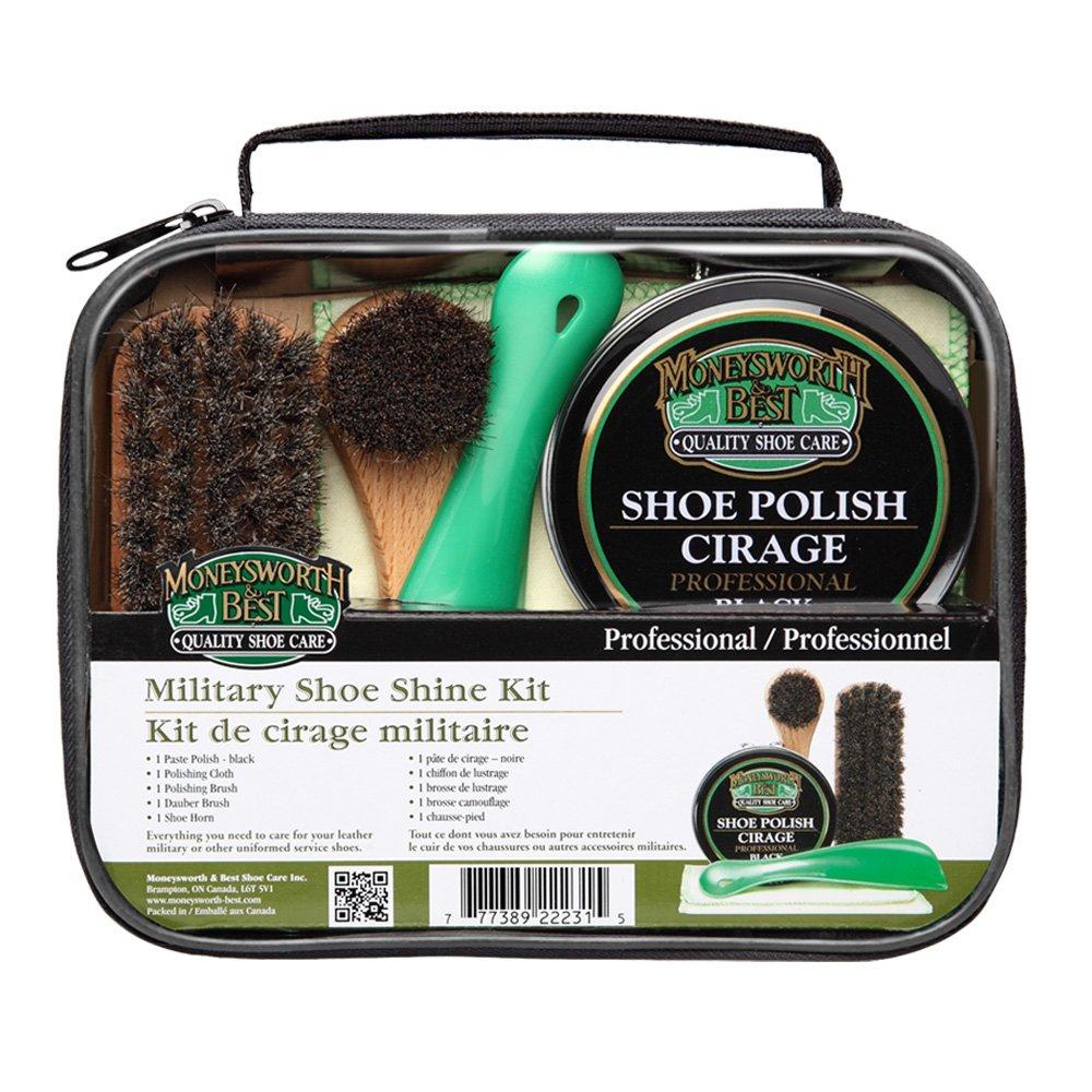 Moneysworth & Best Military Shoe Shine Kit - Juego de 5 piez