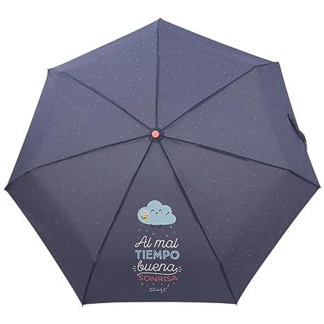 Paraguas Pequeño Mr. Wonderful: Al mal tiempo, buena sonrisa