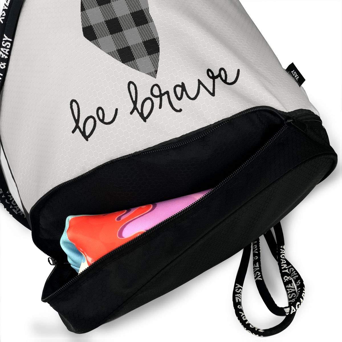 HUOPR5Q Grey and Black Buffalo Plaid Moose Drawstring Backpack Sport Gym Sack Shoulder Bulk Bag Dance Bag for School Travel