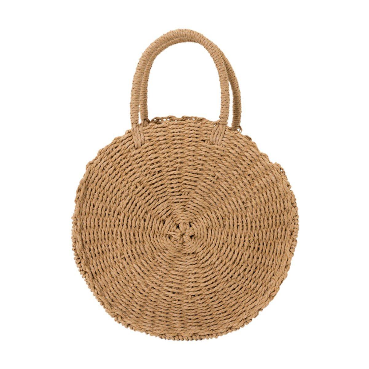 WFYJY-rundschreiben aus Tasche Handgemacht Stroh aus Tasche ferienort badetasche Mode-Handtasche.