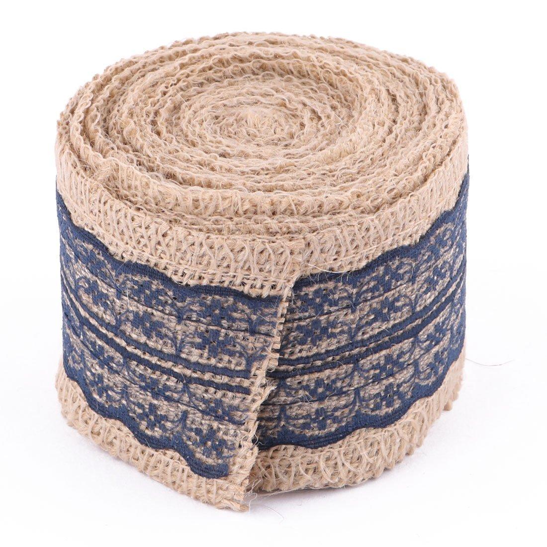 ... lino boda de la Falda de la Torta de cumpleaños decoración de la caja de costura de la Cinta del Rollo 5,6 yardas Azul Marino: Health & Personal Care