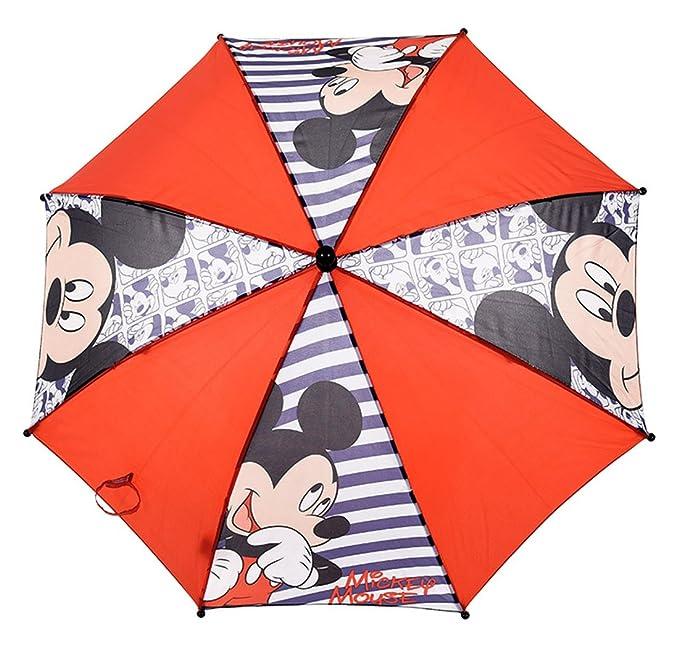 Paraguas para niño de Mickey Mouse, diámetro: 65 cm, color azul ...