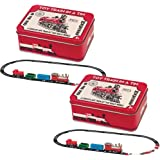 Westminster (Set of 2) Toy Train In A Tin 16pc Set Working Old No 9 Mini Locomotive