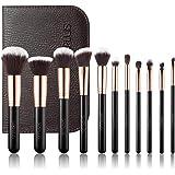 SIXPLUS 11Pcs Makeup Brushes Set for Face Foundation Blender Concealer Eyeshadow with Brush Bag