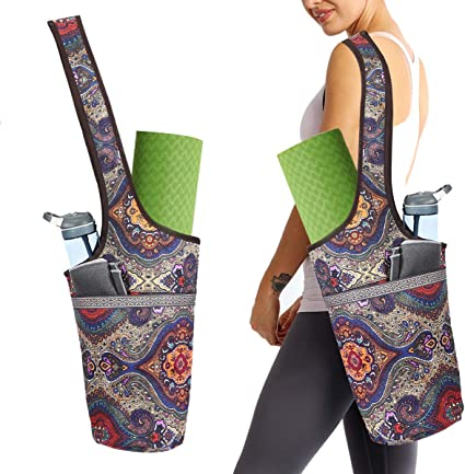 New Season Yoga Mat Bag with Small and Large Size Pocket with Zipper Pocket Ancient Totem