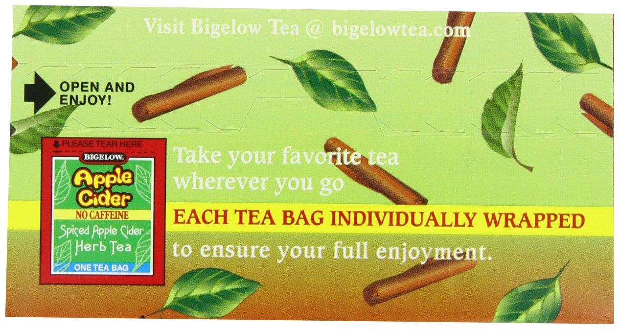 Bigelow herbal tea - Amazon Com Bigelow Apple Cider Herbal Tea 1 64 Oz 20 Count Boxes Pack Of 6 Bigelow Cinnamon Apple Herbal Tea Grocery Gourmet Food