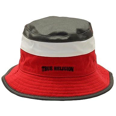 27c359e7 True Religion Men's Color Blocked Black/True Red Reversible Bucket Hat Sz:  ...