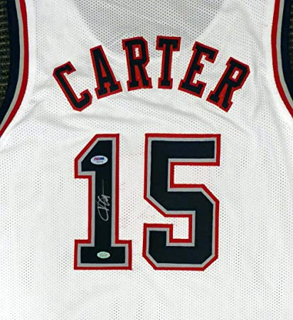 Image Unavailable. Image not available for. Color  Autographed Vince Carter  Jersey - White ... b4c711106