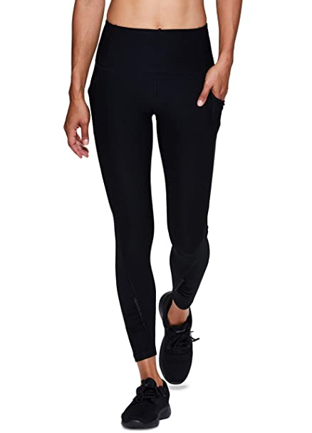 6a48c59036ca1 RBX Active Women's Workout Yoga 7/8 Ankle Legging with Side Detail ...
