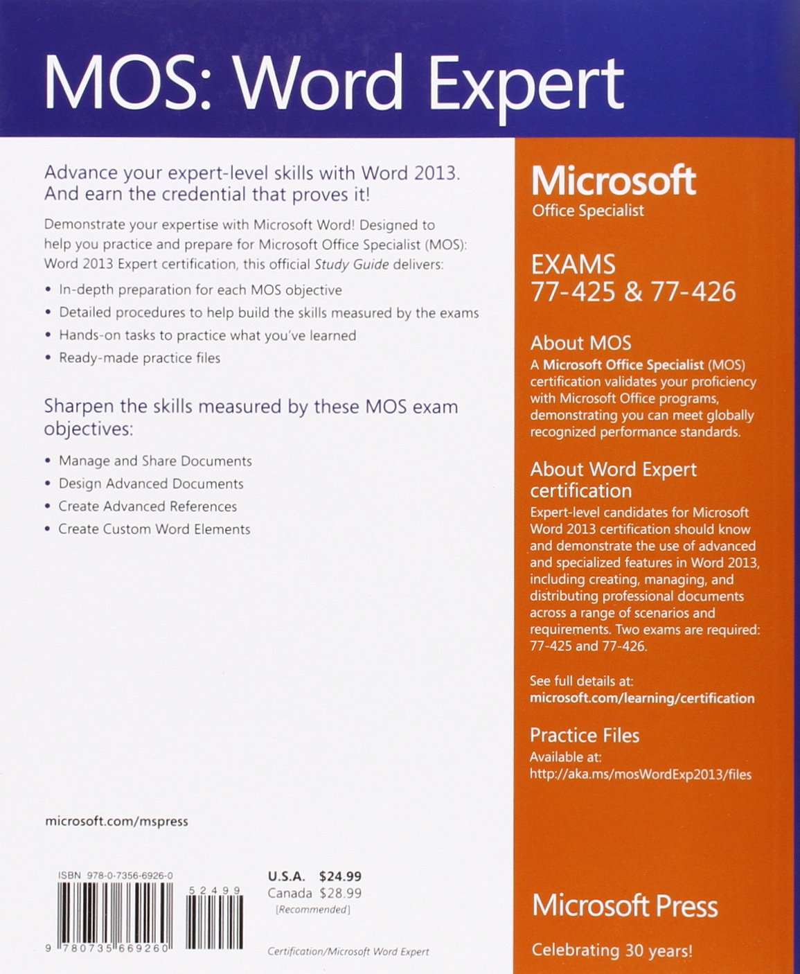 Mos 2013 Study Guide For Microsoft Word Expert Mos Study Guide