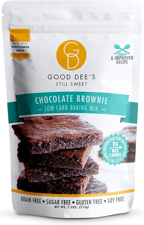 Good Dees Cookie Mix Baja en carbohidratos, sin azúcar, gluten Brownie Mix libre de 7,5 oz