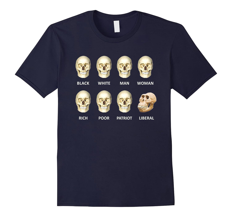 Black White Man Woman Skulls of Modern America T-shirt-CD