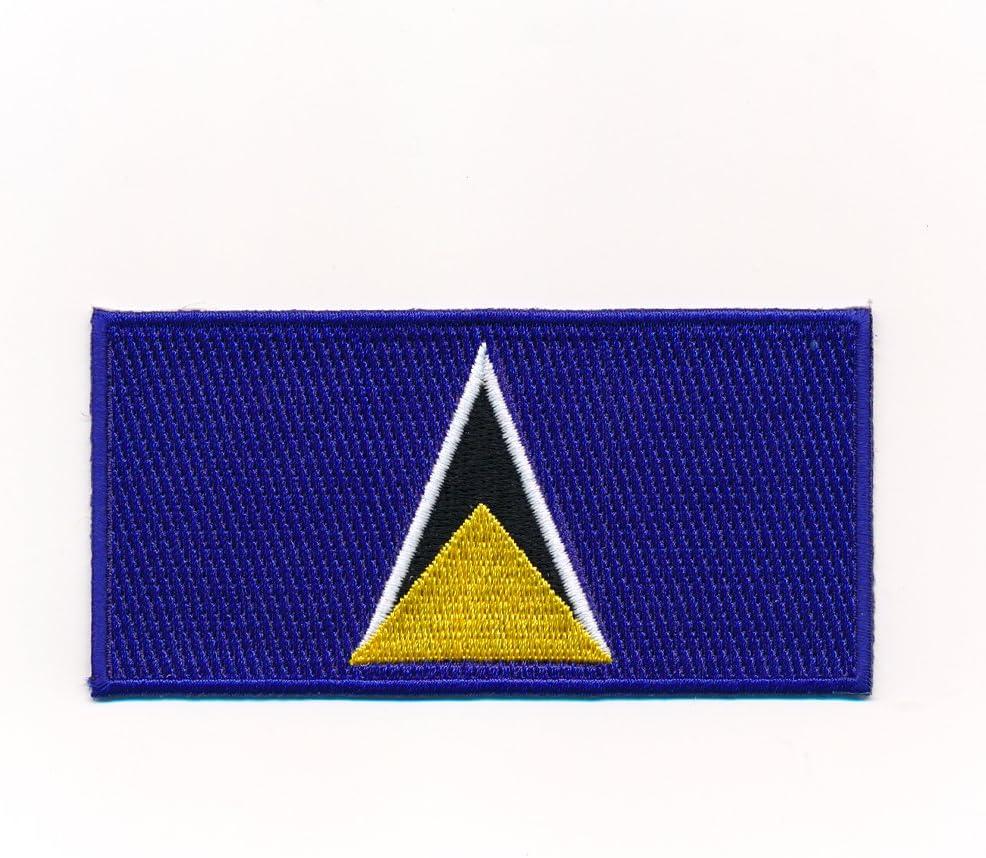hegibaer 40/x 20/mm St Lucia/ /St Lucia Flag Sew-On Castries 1049/Mini