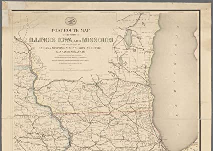 Amazon.com: Vintography Reprinted 18 x 24 1873 Map of Washington ...