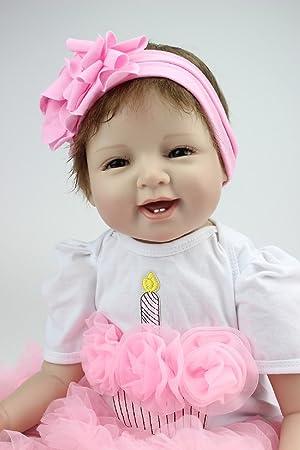 1c152fbd09 Amazon.es: HOOMAI 22inch 55CM baratos reborn muñeca niños vinilo suave  silicona bebé realista baby doll Niños pequeños Magnetismo Juguetes niñas  recien ...