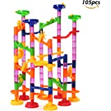 FUNTOK 105pcs Marble Run Railway Toys Construction Child Building Blocks Toys