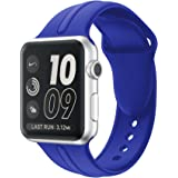 Apple Watch Band Silicone 38mm 42mm,Sundo Iwatch Replacement Wrist Strap Bracelet Band for Apple Watch Nike+ Sport Edition Series 1 Series 2 Series 3