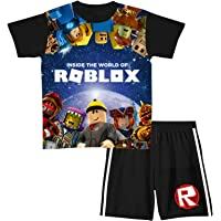Ro-b-lox Juego de camiseta y pantalones cortos de manga corta para niños y niñas