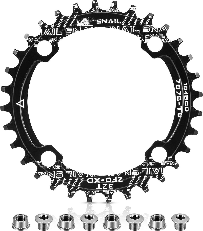 30-42T Narrow Wide 104bcd Single Speed XC AM DH BMX MTB Road Bike Chainring Bolt