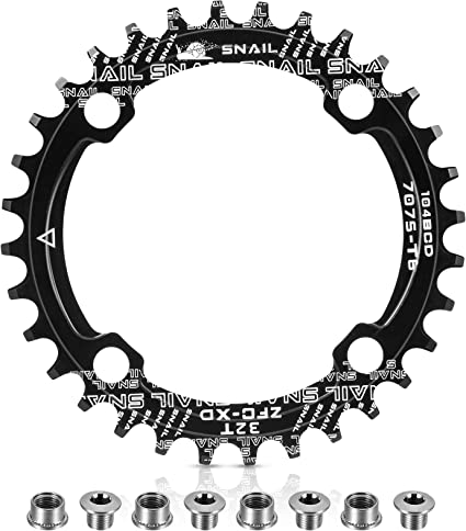 104 BCD 32T 34T 36T 38T 40T 42T Bicycle Chainring Single Narrow Wide Bike Parts
