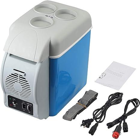 Mini Nevera Portátil de Coche 12V Nevera Eléctrica Portátil con Dos Funciones de Enfriar y Calentar Frigorifico de Coche con Capacidad de 7,5L Nevera ...