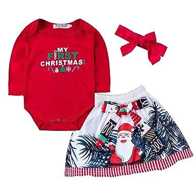 4ba6229ded32 Amazon.com  Dofel Christmas Outfits Baby Boys My 1st Christmas ...