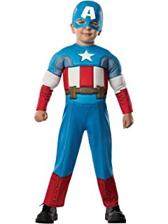 Captain America Muscles Halloween Costume Toddler Size Choice