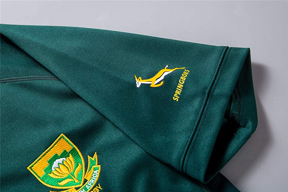 FWHACMT 2019 World Cup South Africa Rugby Jersey Fan T-Shirts South Africa Home//Away Hombres Deportes Secado r/ápido de Manga Corta World Cup F/útbol Americano Jerseys Sud/áfrica Local//visitante
