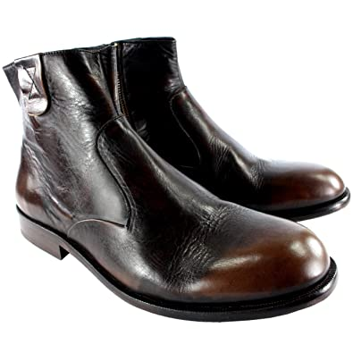 426406eb3e Hudson Mens H Haxton Smart Side Zip Leather Chelsea Ankle Boots New UK 7-12