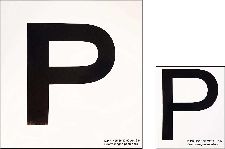 Pair of Adhesive P Plates: Amazon.co.uk