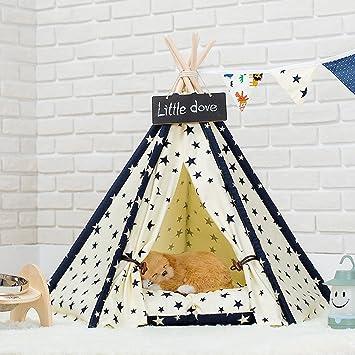 shanzhizui Tienda de Mascotas Perrera Nido de Gato Extraíble y Lavable Cama para Mascotas Four Seasons