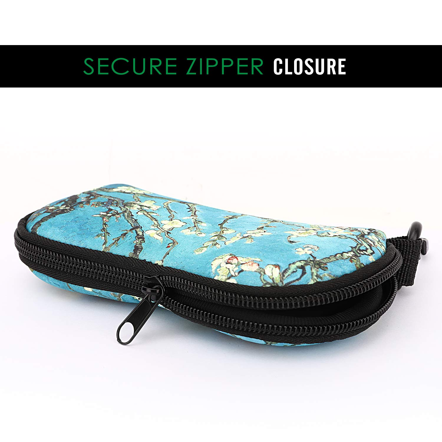 Portable Travel Sunglasses Case Pouch Carrying Protective Neoprene Eyewear Bag Box with Belt Clip for Men and Women MoKo Eyeglasses Case Soft, Ultra Lightweight