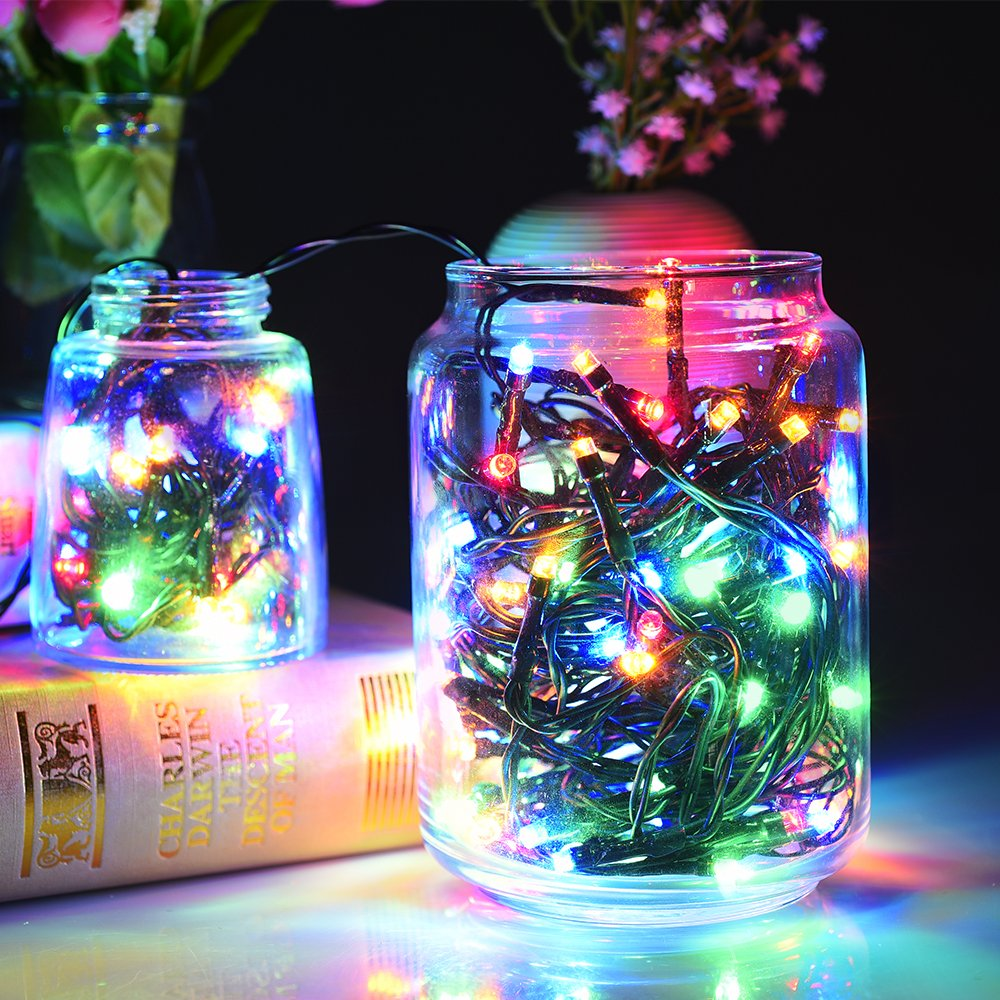 Solar string lights litom 200 led outdoor solar christmas lights solar string lights litom 200 led outdoor solar christmas lights garden waterproof solar powered fairy lights 8 modes 72ft 22m for garden patio home mozeypictures Images