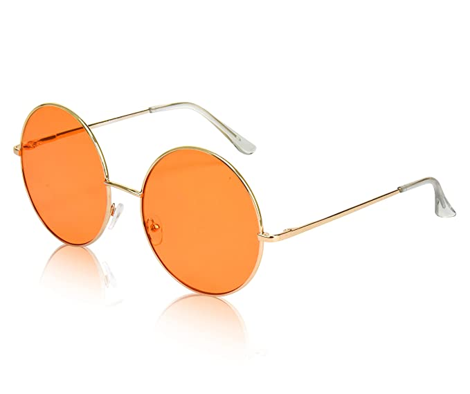 Amazon.com: Sunny Pro Gafas de sol redondas de gran tamaño ...