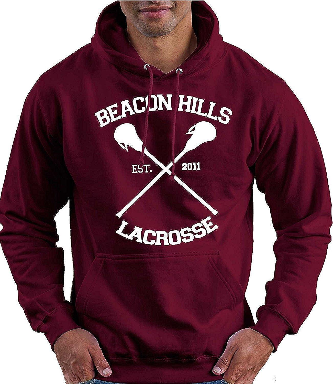 JNJ Beacon Hills Lacrosse Maroon Hoodie Teen Wolf McCall Stilinski Lahey Unisex Felpa